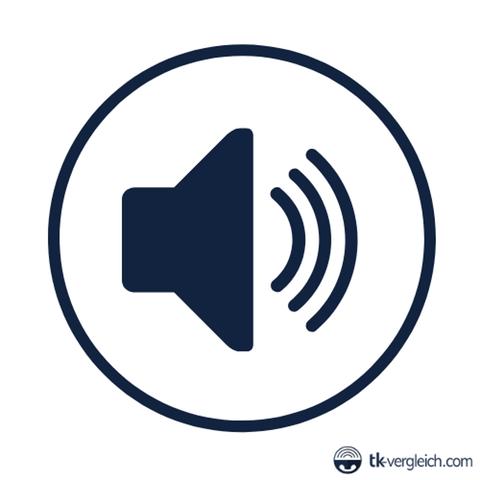 Kreisicon mit einem Lautsprecher